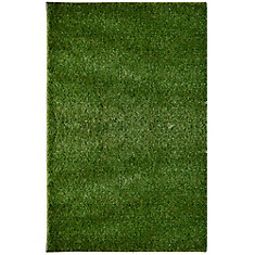 Outdoor Shag Green 5 ft. x 7 ft. Indoor/Outdoor Contemporary Rectangular Area Rug