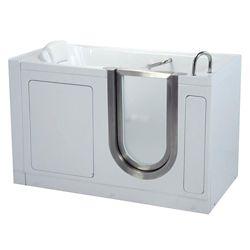 Ella Deluxe 4 Feet 7-Inch Walk-In Non Whirlpool Bathtub in White