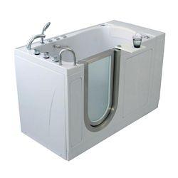 Ella Elite 4 Feet 4-Inch Walk-In Whirlpool Bathtub in White with Swivel Tray