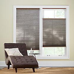 Home Decorators Collection Store alvéolaire sans cordon à ouverture de haut en bas et vice-versa, 48po x 48po, espresso