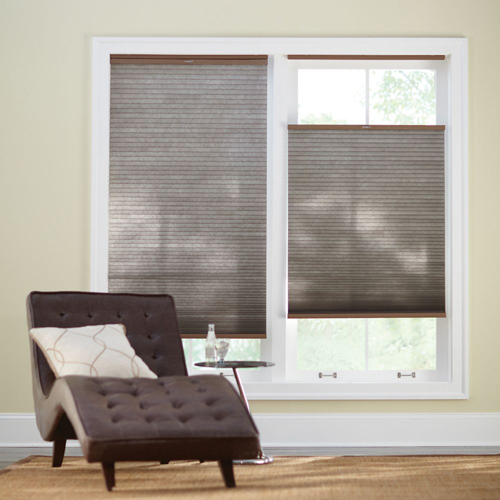 Cordless Top Down/Bottom Up Cellular Shade Espresso 72-inch x 72-inch (Actual width 71.625-inch)