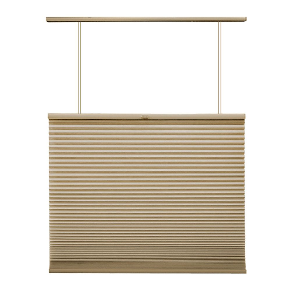 Home Decorators Collection 27x72 Sandstone Cordless Top Down/Bottom Up Cellular Shade (Actual width 26.625 Inch)