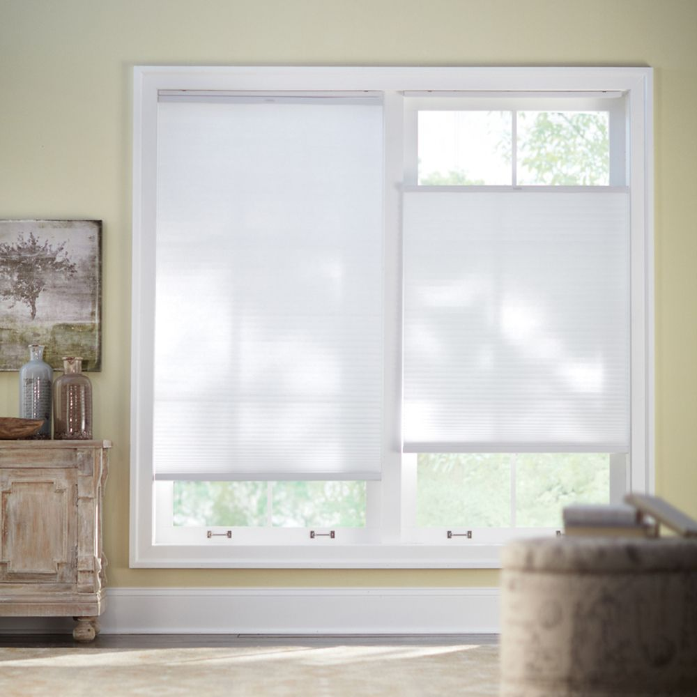 27x72 Snow Drift Cordless Top Down/Bottom Up Cellular Shade (Actual width 26.625 Inch)