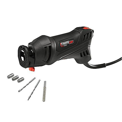 Dremel Rotozip 5.5 Amp High Speed Spiral Saw System with 2 Accessories and Diamond Bit
