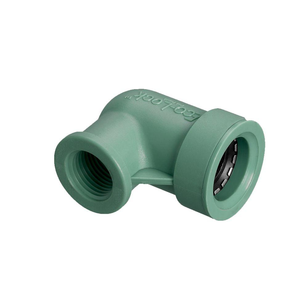 3/4 inch x 1/2 inch FPT Eco-Lock Elbow