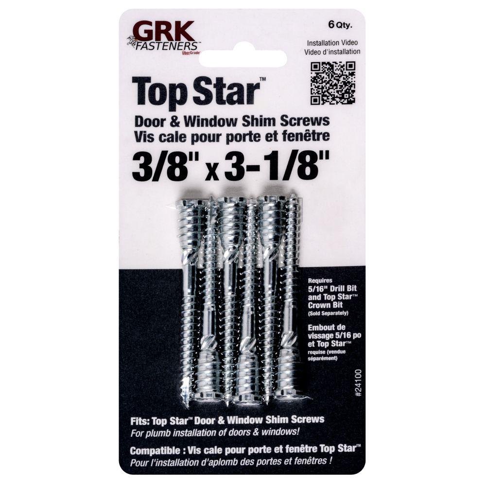 Grk   Topstar� Diy Kit White 3/8x3 1/8 Inch.
