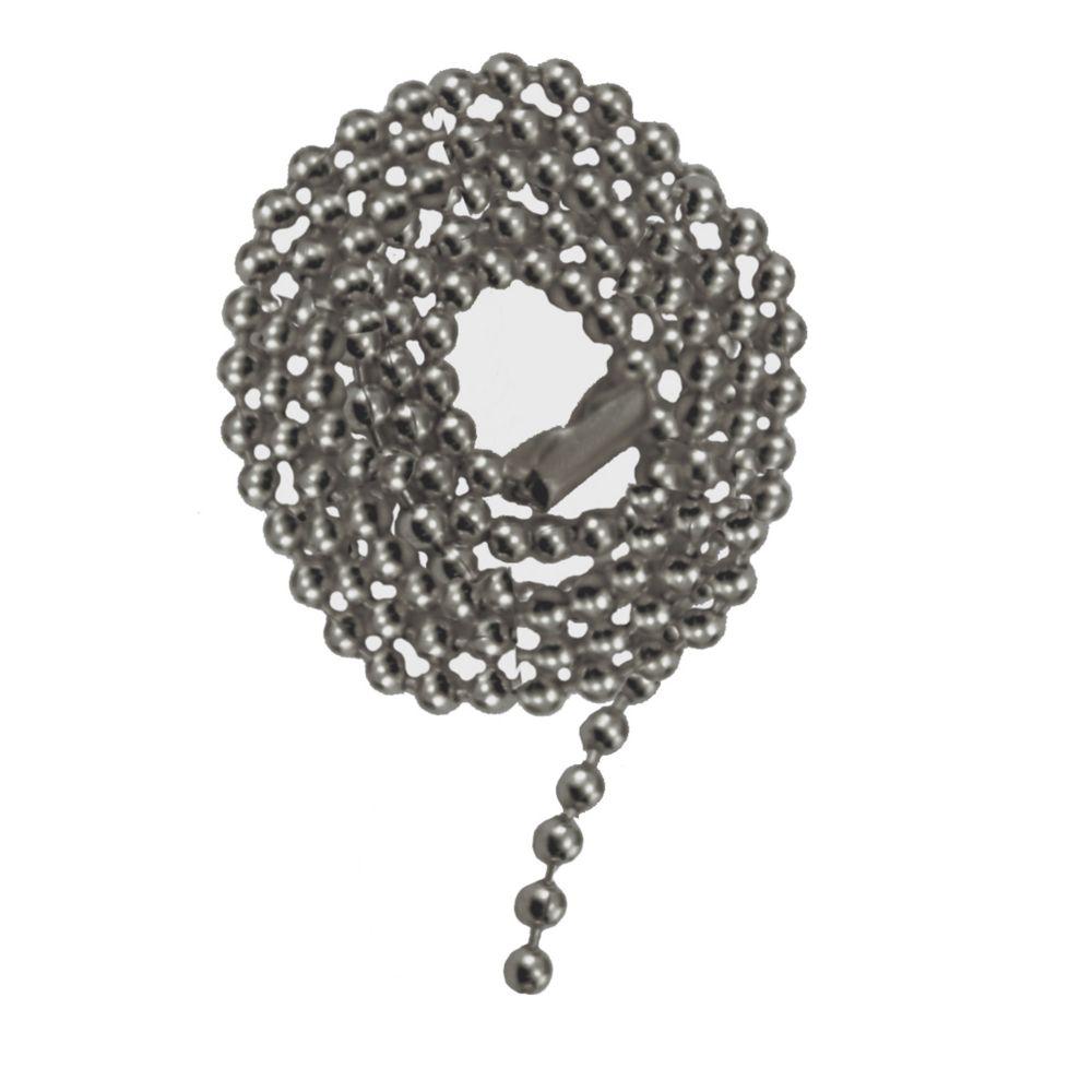 Satin Nickel Beaded Pull Chain
