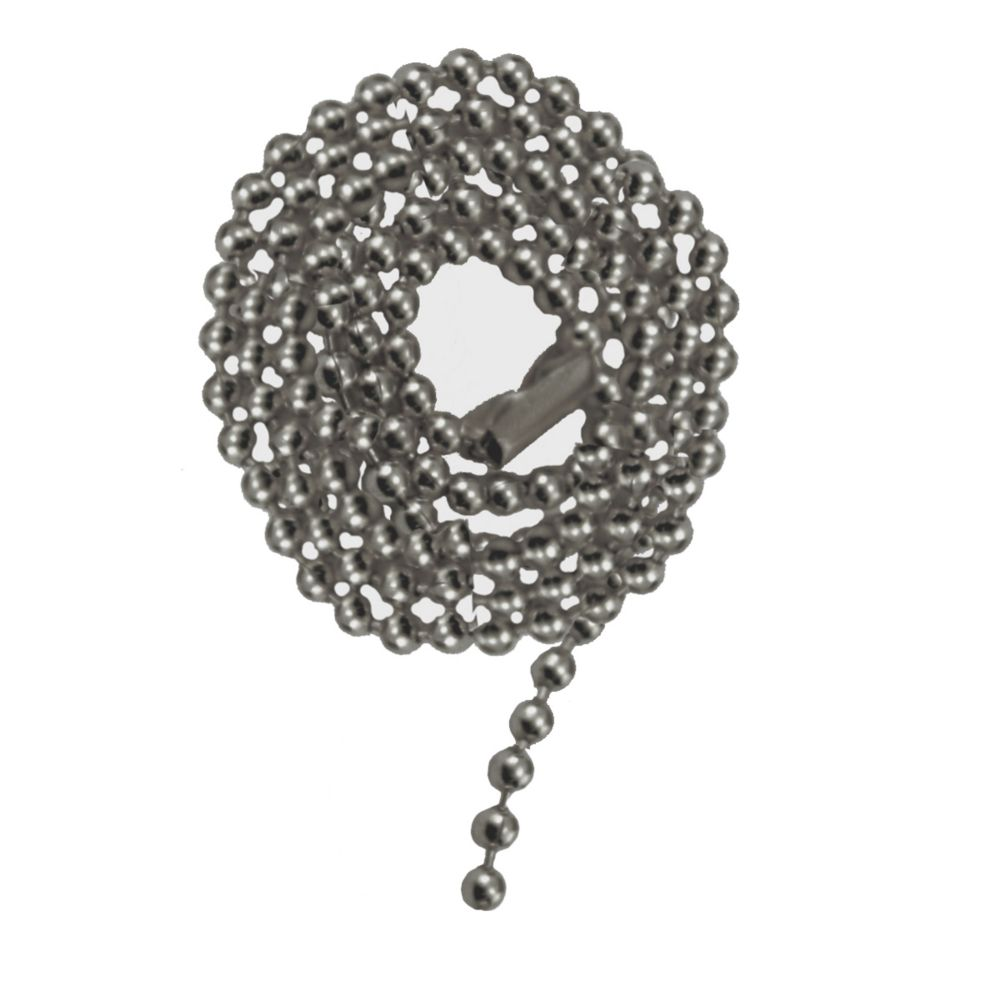 Satin Nickel Beaded Pull Chain