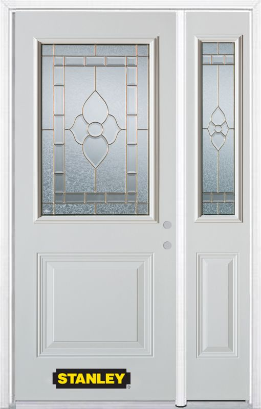 48 in x 82 in 1 2 lite 1 panel pre finished white steel for Cheap exterior doors for home