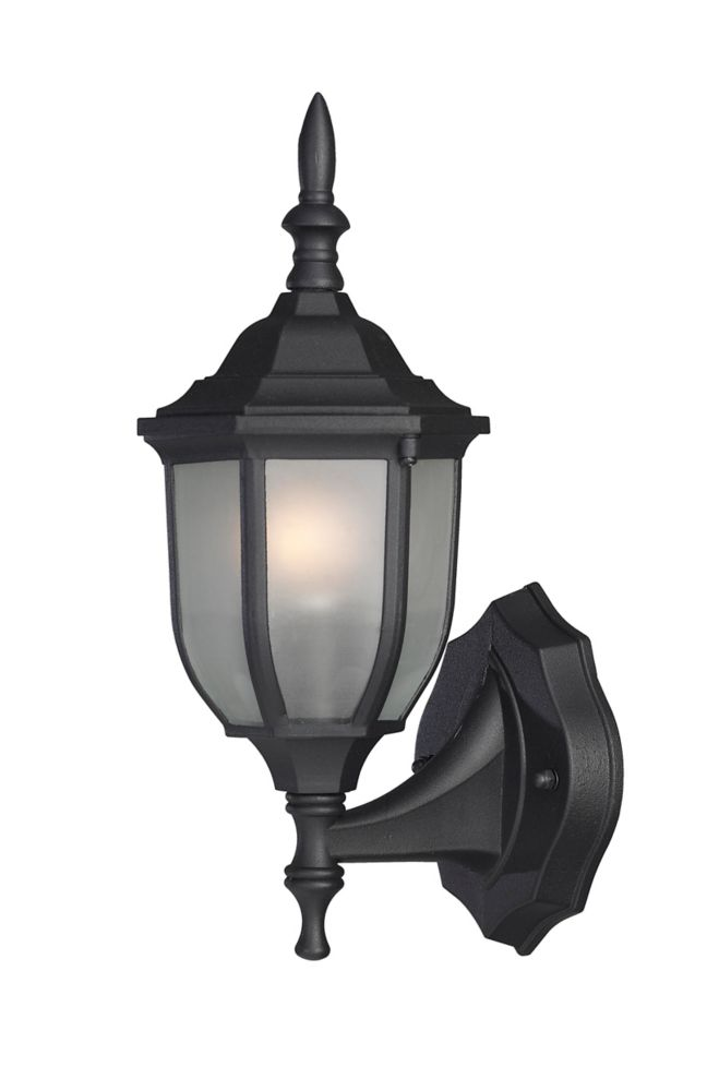Wall Lantern Replacement Glass : Canarm Ltd. HAYDEN: 1 Light Black Wall Lantern, Frosted Glass The Home Depot Canada