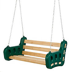 Contoured Playground 2-Person 48-inch W Leisure Swing with Chain