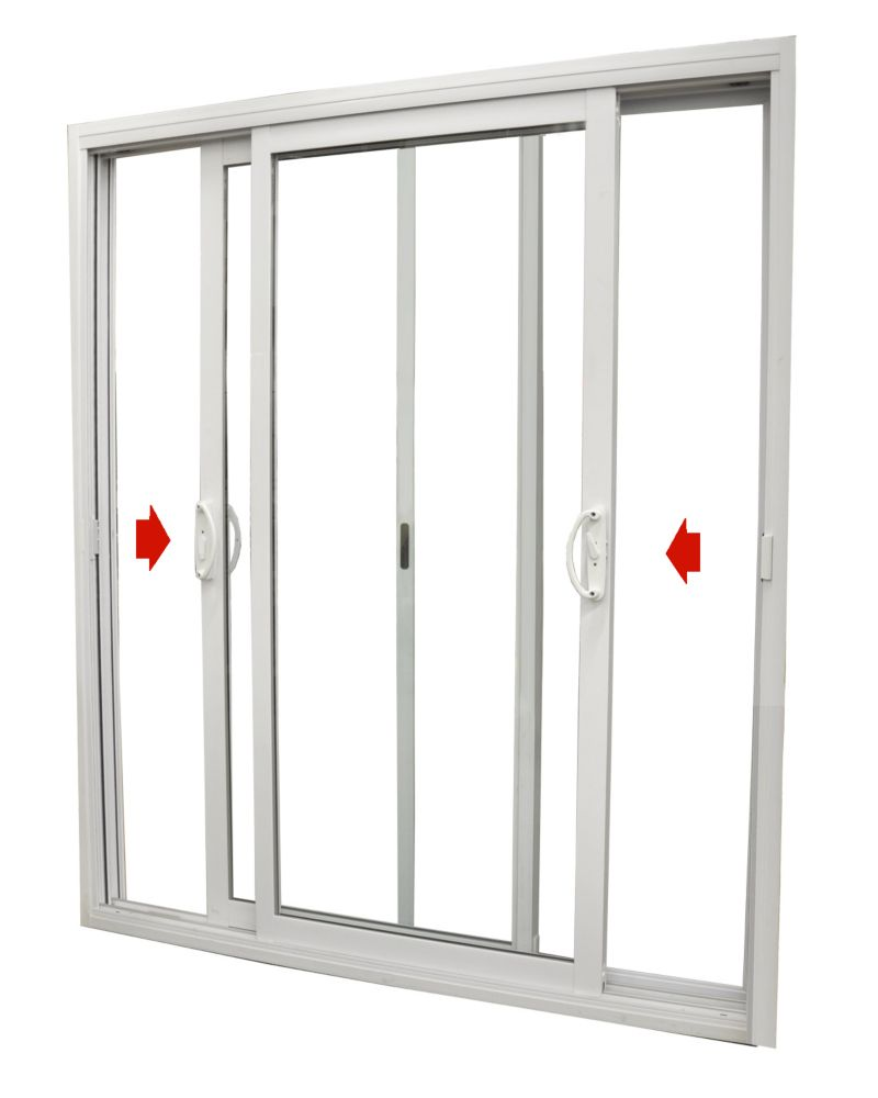 Dualglide patio door dualglide sliding patio door with low for Outside sliding glass doors