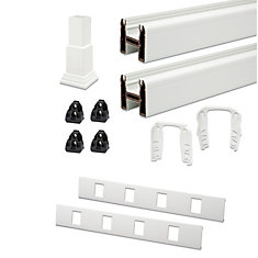 Universal 67 1/2-inch Top/Bottom Rail Kit in White