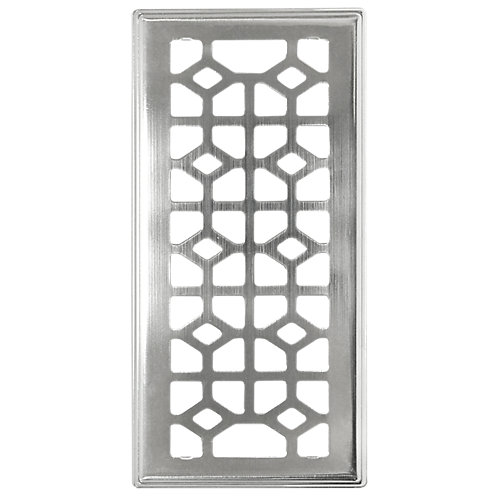 Trio de grilles de ventilation 4x10 avec contour biseauté