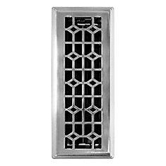 Trio de grilles de ventilation 3x10 avec contour biseauté