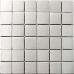 Modamo 2x2-inch Stainless Steel Metal Mosaic Wall Tile (1 sq.ft./sheet)