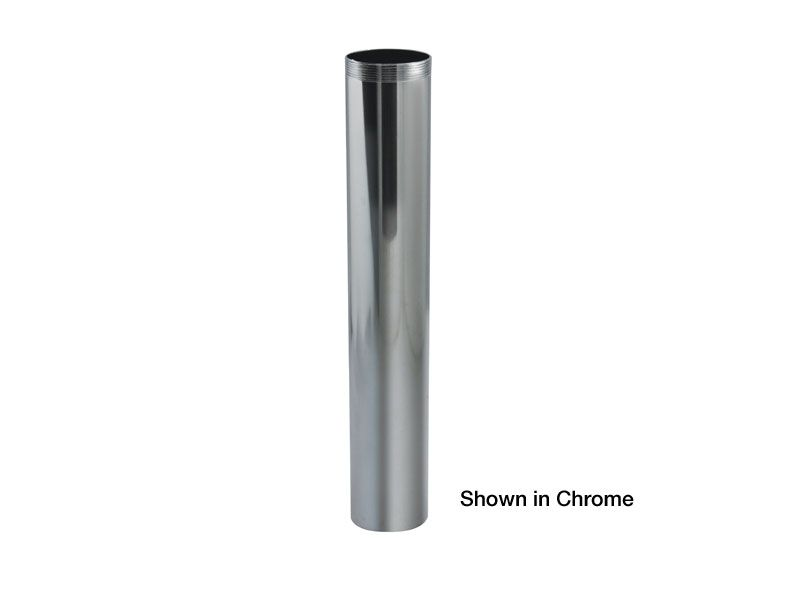 Brass 1-1/2 Inches  x 6 Inches  Chrome Threaded Extension T.O.E. Tube