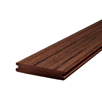 Trex 12 ft transcend tropical composite capped grooved for Capped composite decking