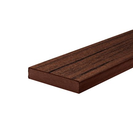 12 Ft. - Transcend Tropical Composite Capped Square Decking - Lava Rock