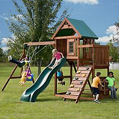 Knightsbridge Wood Complete Playground Set