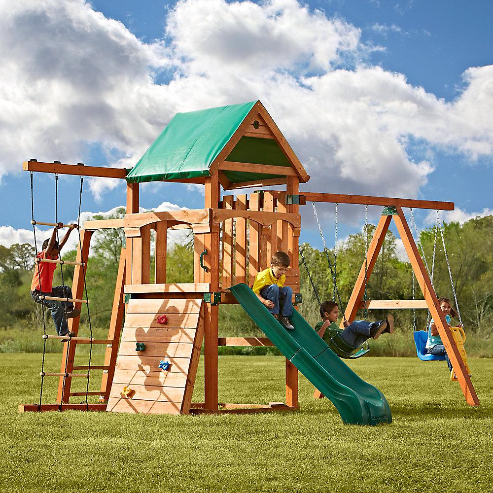 Ensemble de jeux Bighorn avec glissoire Summit, ajouter des pièces de bois d'œuvre de 10,2cm x 10,2cm (4po x 4po)