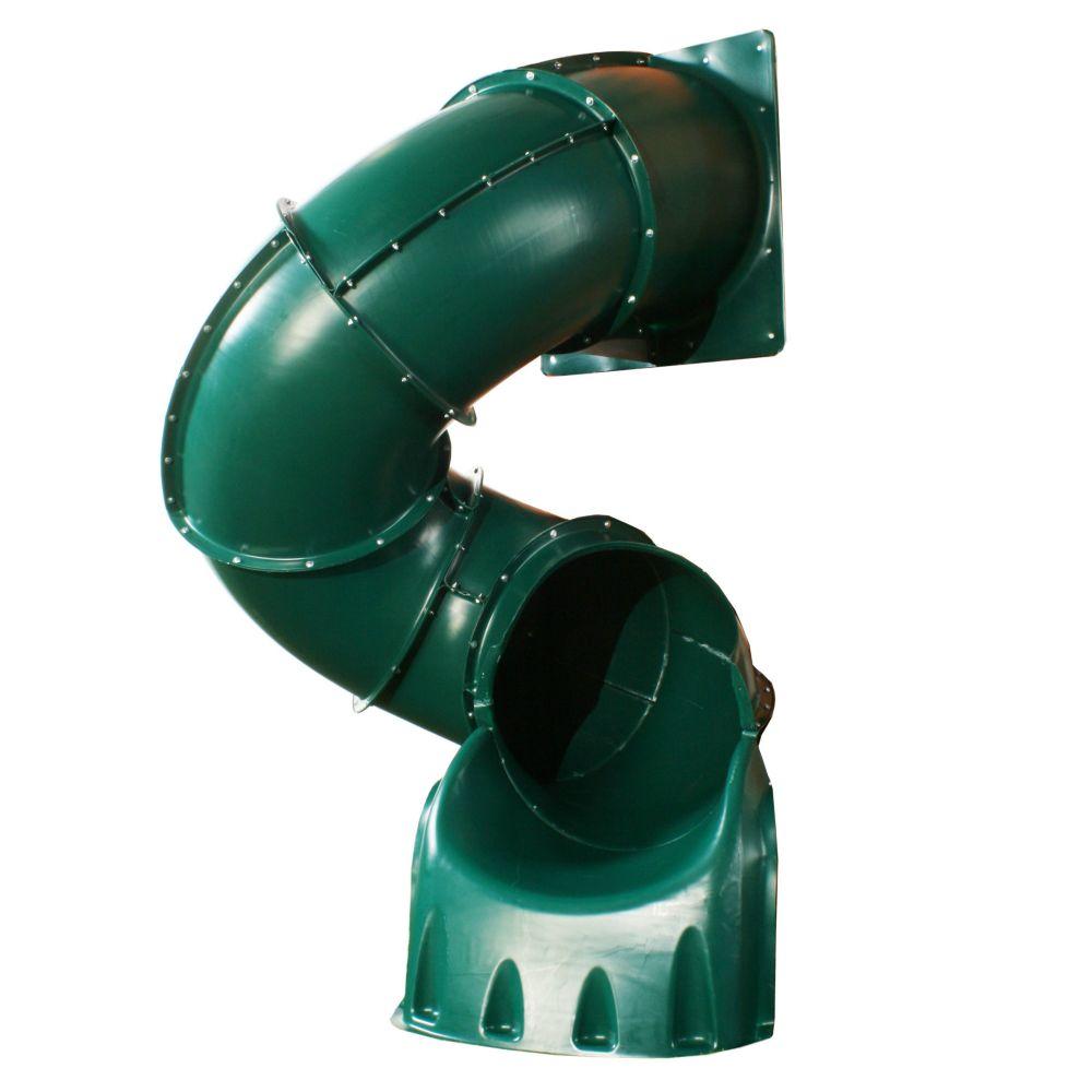 5 ft. Turbo Tube Slide in Green