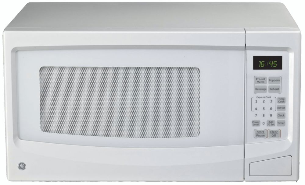 GE 1.1 cu. ft. Countertop Microwave Oven in White