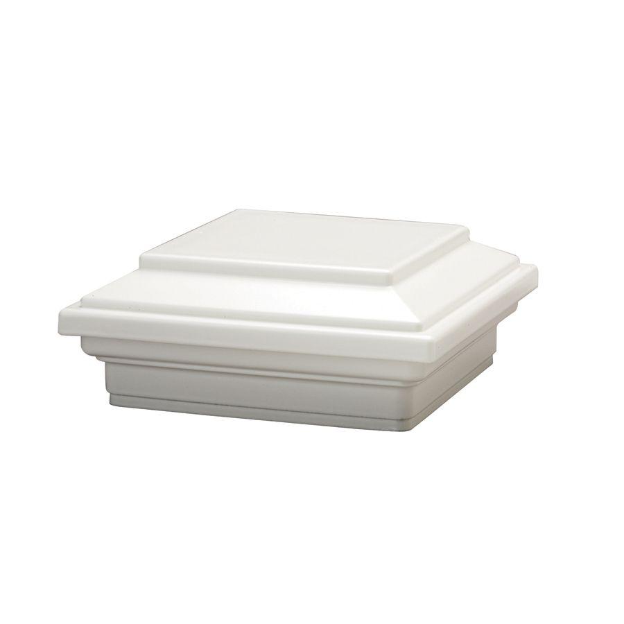 4x4 Post Sleeve Cap - Square Flat - White