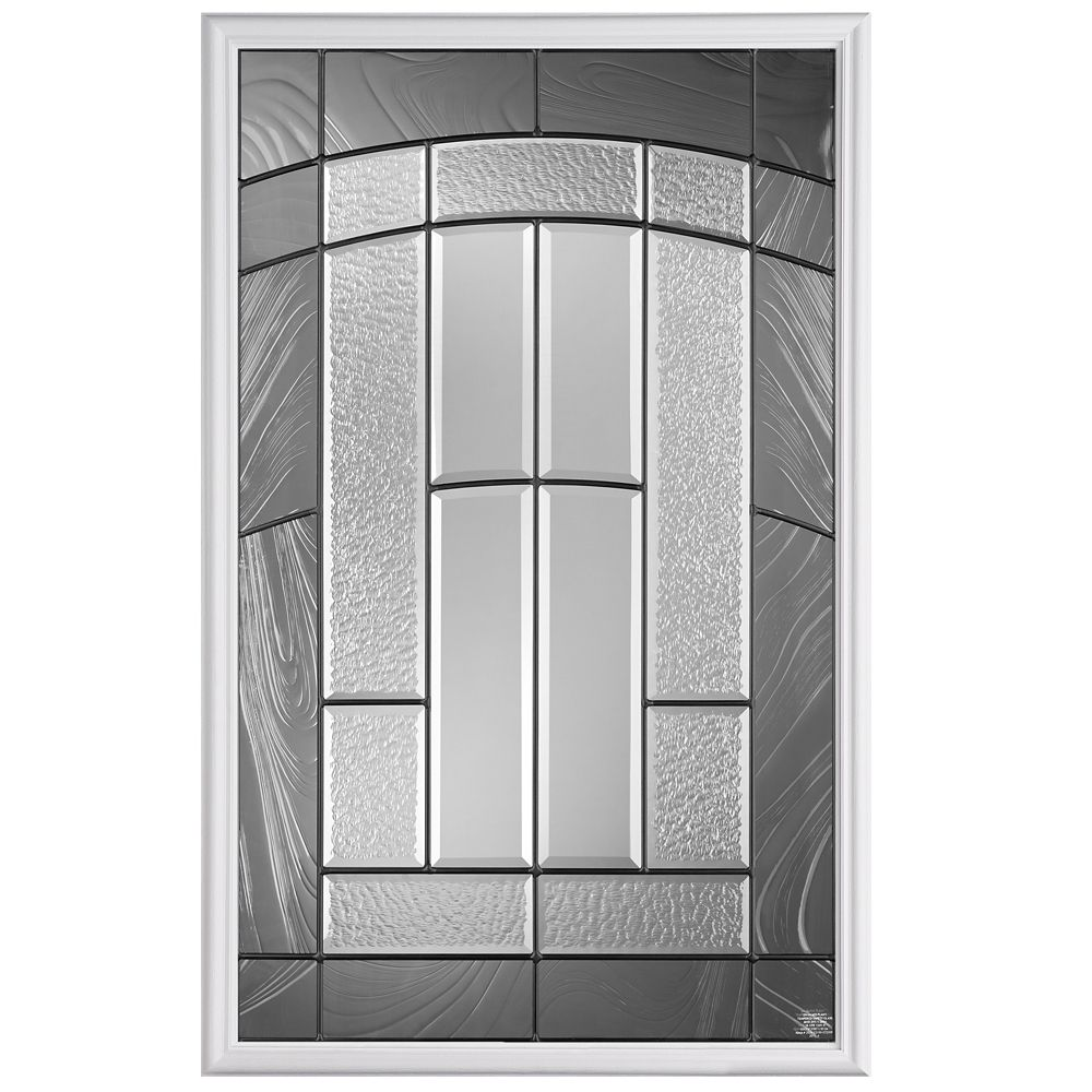 Masonite Croxley 22-inch x 36-inch 1/2-Lite Glass Insert
