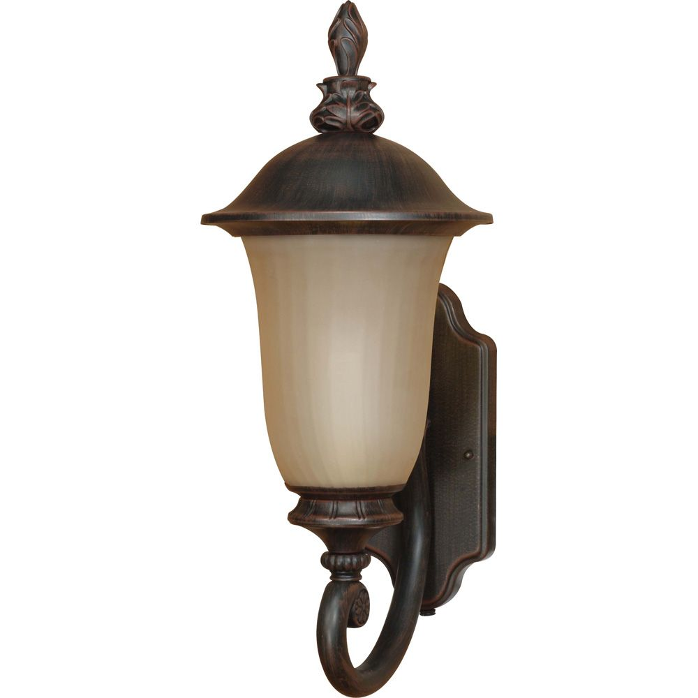 Parisian Old Penny Bronze 1-Light Wall Lantern Arm Up with Champagne Glass  (Bulb included)