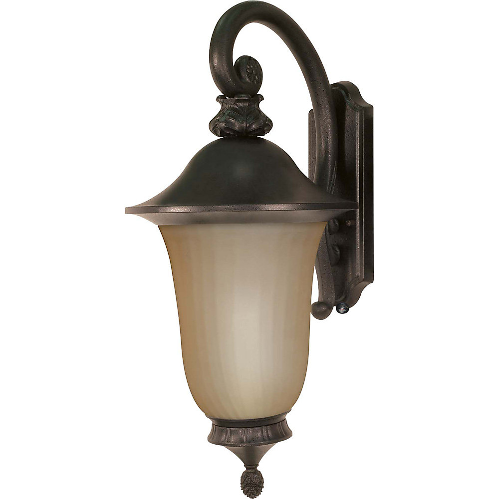 Parisian Old Penny Bronze 1-Light Wall Lantern Arm Down with Champagne Glass  (Bulb included)