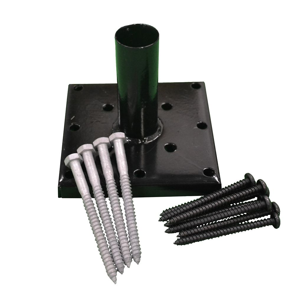 Black Post Anchor Kit Galvanized (4 Inch x 4 Inch)