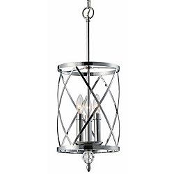 Canarm Lustre à 3 ampoules avec détails en cristal Vanessa, chrome
