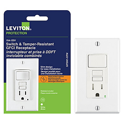 Decora 15a switch and gfci receptacle the home depot canada publicscrutiny Images