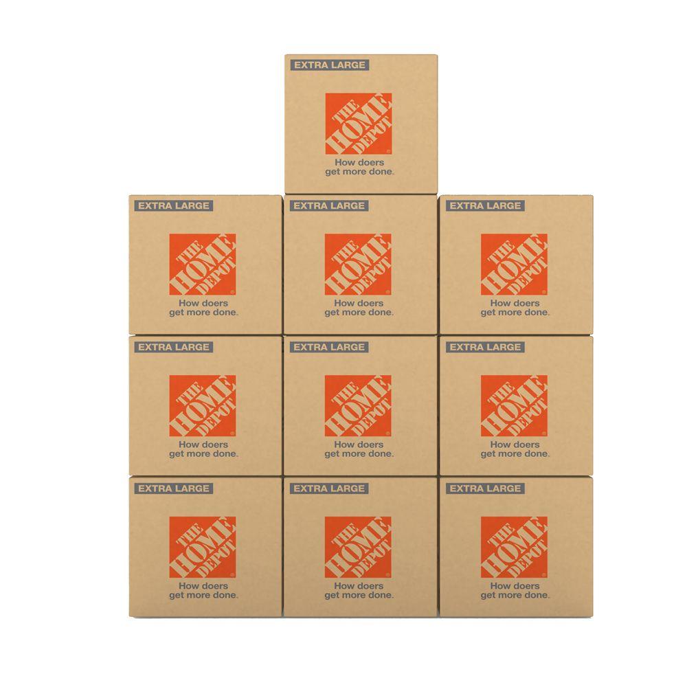 The Home Depot 10 Box Extra Large Box Bundle