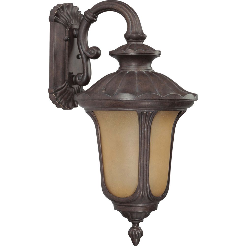 Beaumont Fruitwood 1-Light Midsize Wall  Arm Down  (1) 18 watt  Bulb included