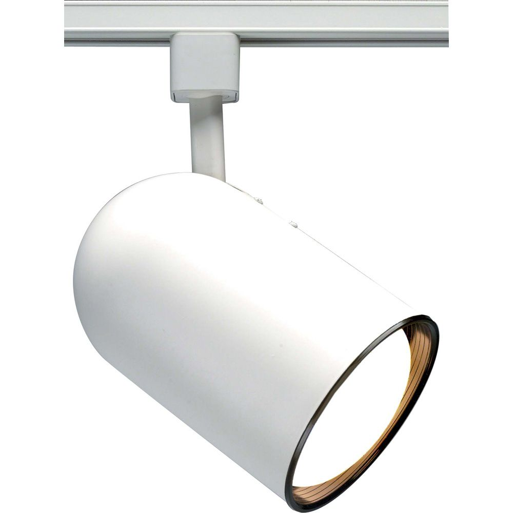 1-Light R20 Track Head  Bullet Cylinder Finished in White