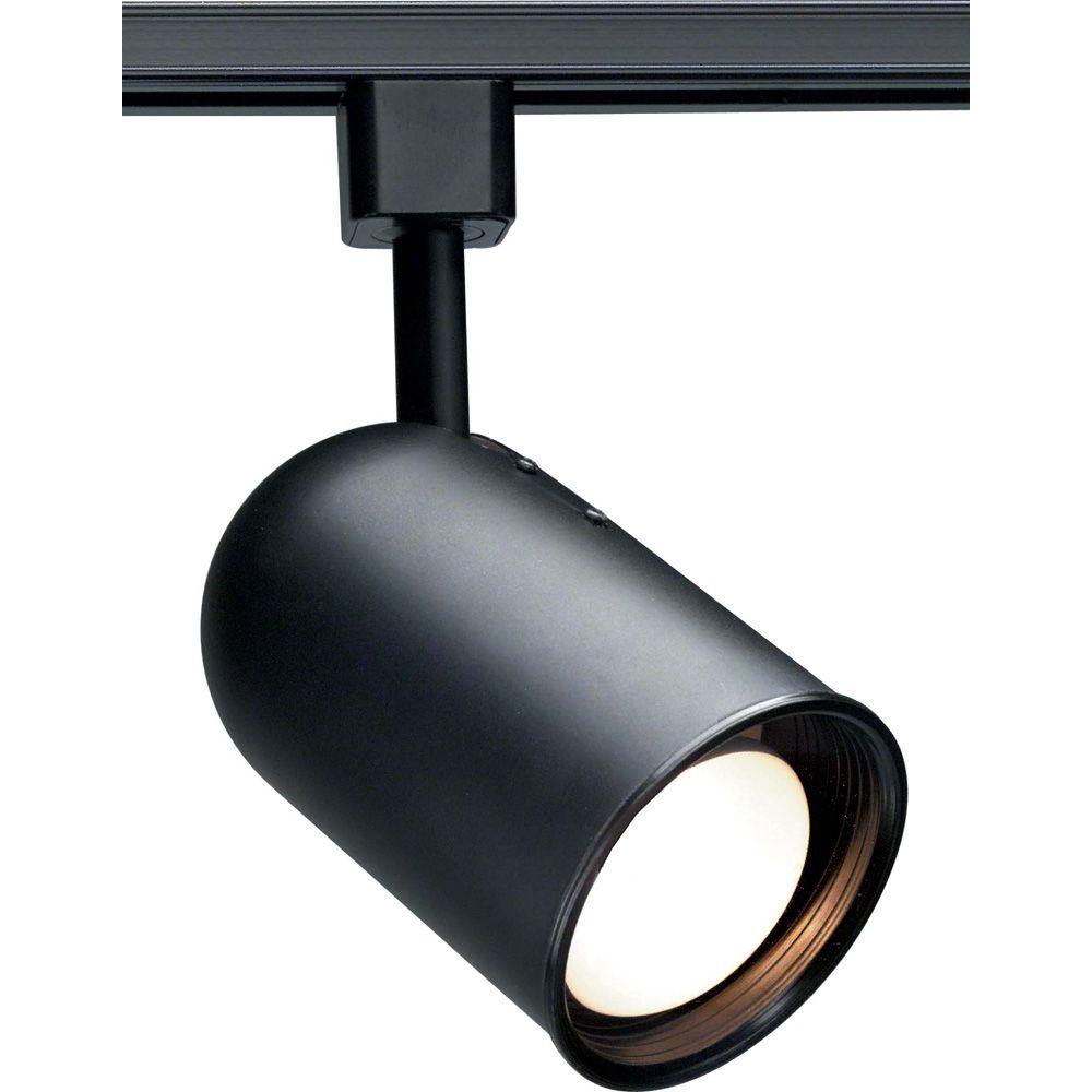1-Light R20 Track Head  Bullet Cylinder Finished in Black