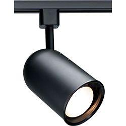 Glomar 1-Light R20 Track Head  Bullet Cylinder Finished in Black
