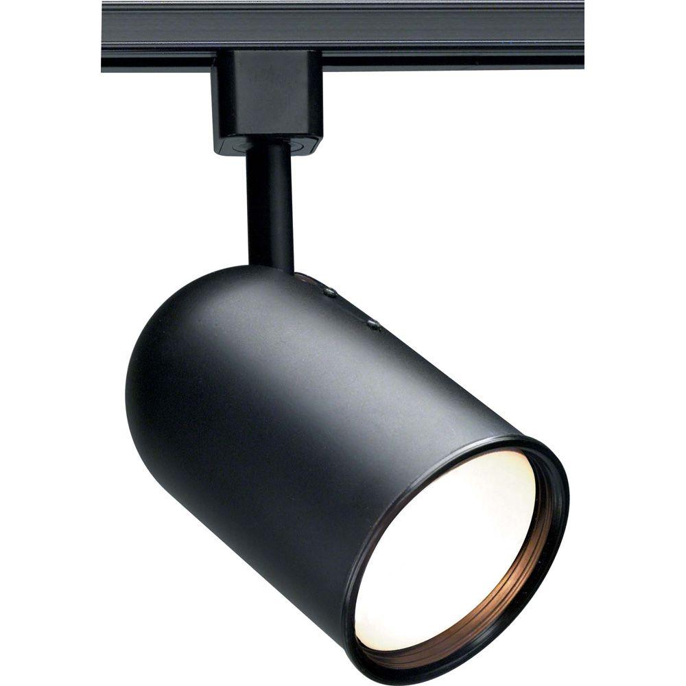 1-Light R30 Track Head Bullet Cylinder Finished in Black