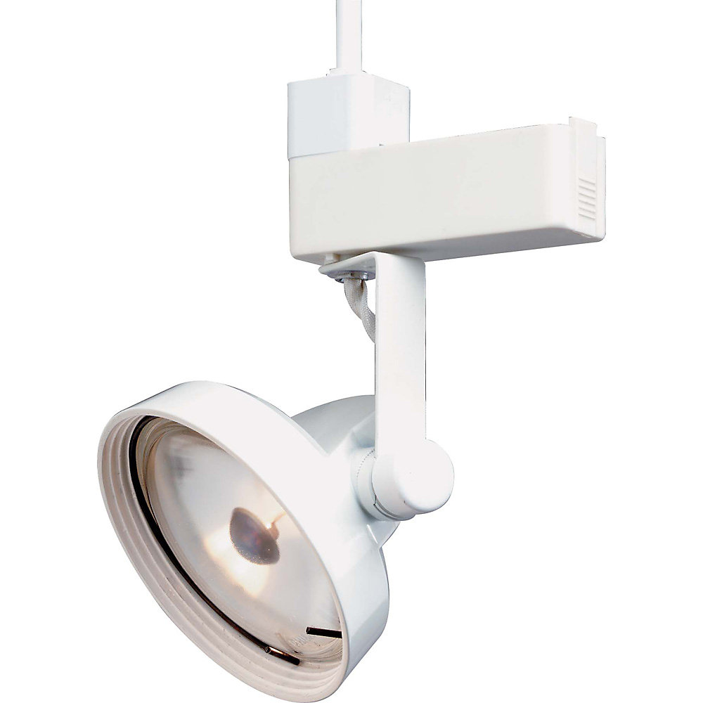 1-Light PAR36 Track Head Gimbal Ring Finished in White