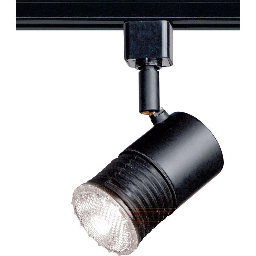 Glomar 1-Light 2 Inch Track Head Mini Universal Holder Finished in Black