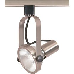 Glomar 1-Light PAR30 Track Head Gimbal Ring Finished in Brushed Nickel