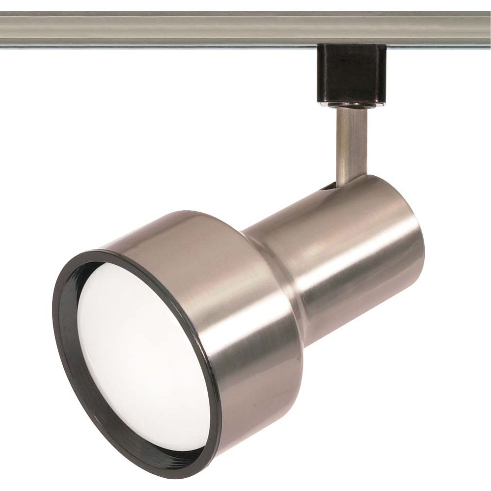 1-Light R30 Track Head Step Cylinder Finished in Brushed Nickel