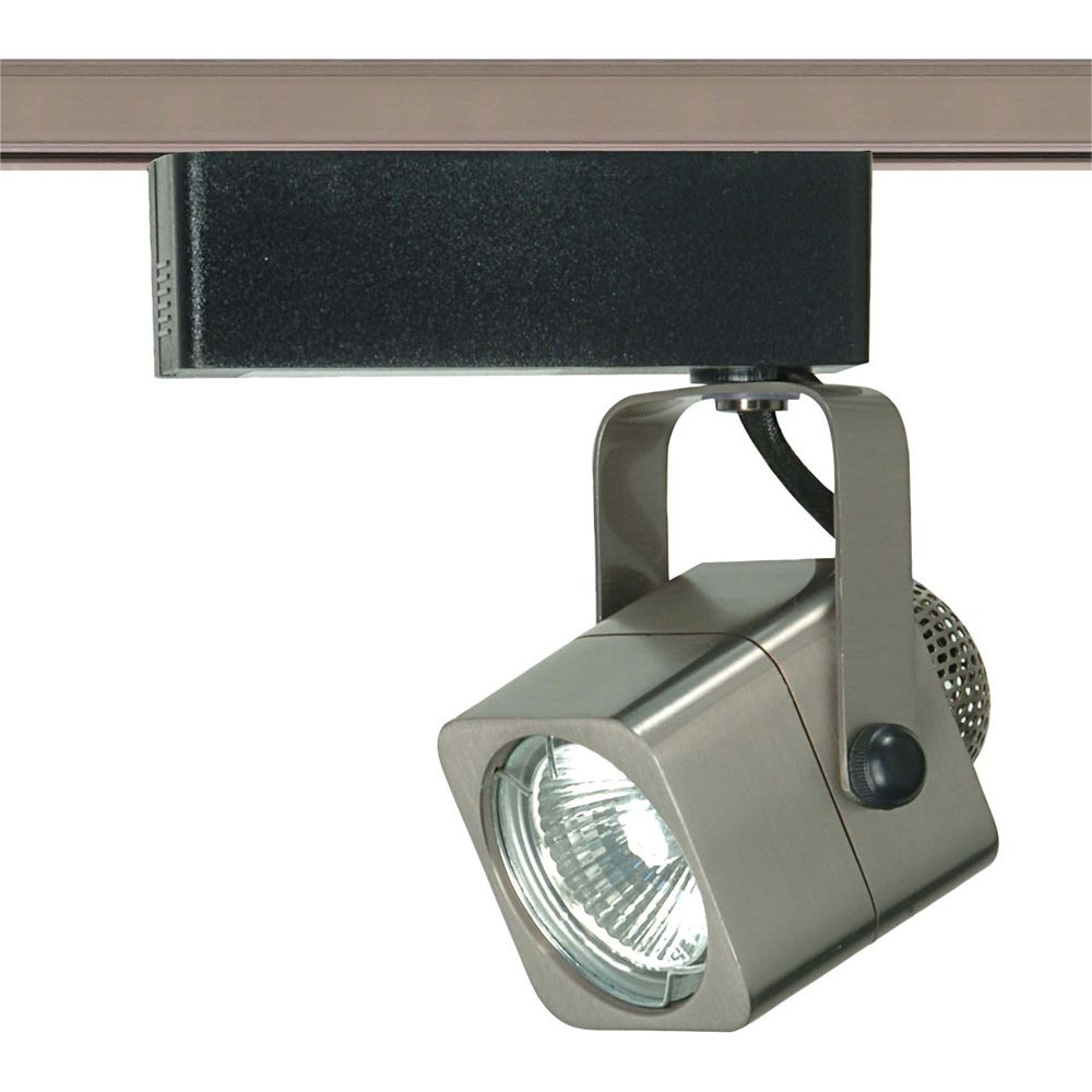 1-Light MR16 12 volt Track Head Square Finished in Brushed Nickel HD-TH310 Canada Discount