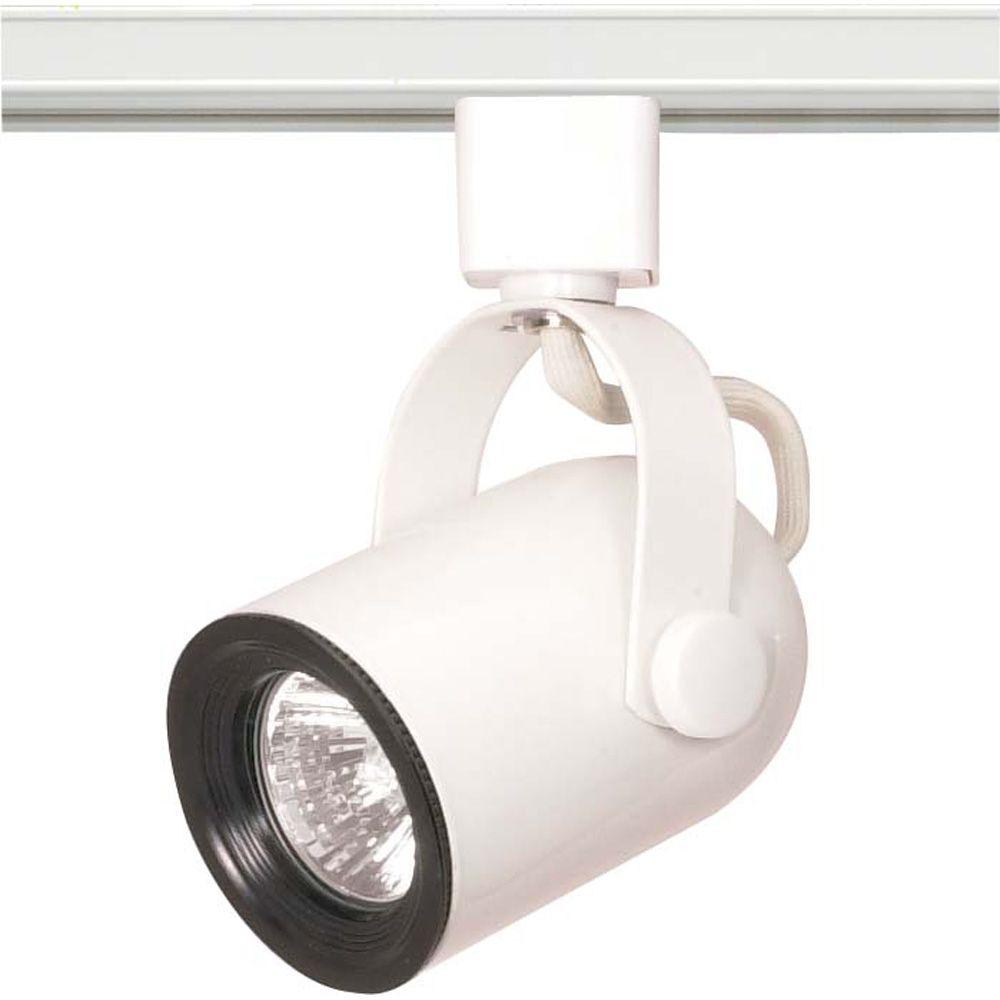 Appareil d'éclairage à une ampoule avec , Fini blanc