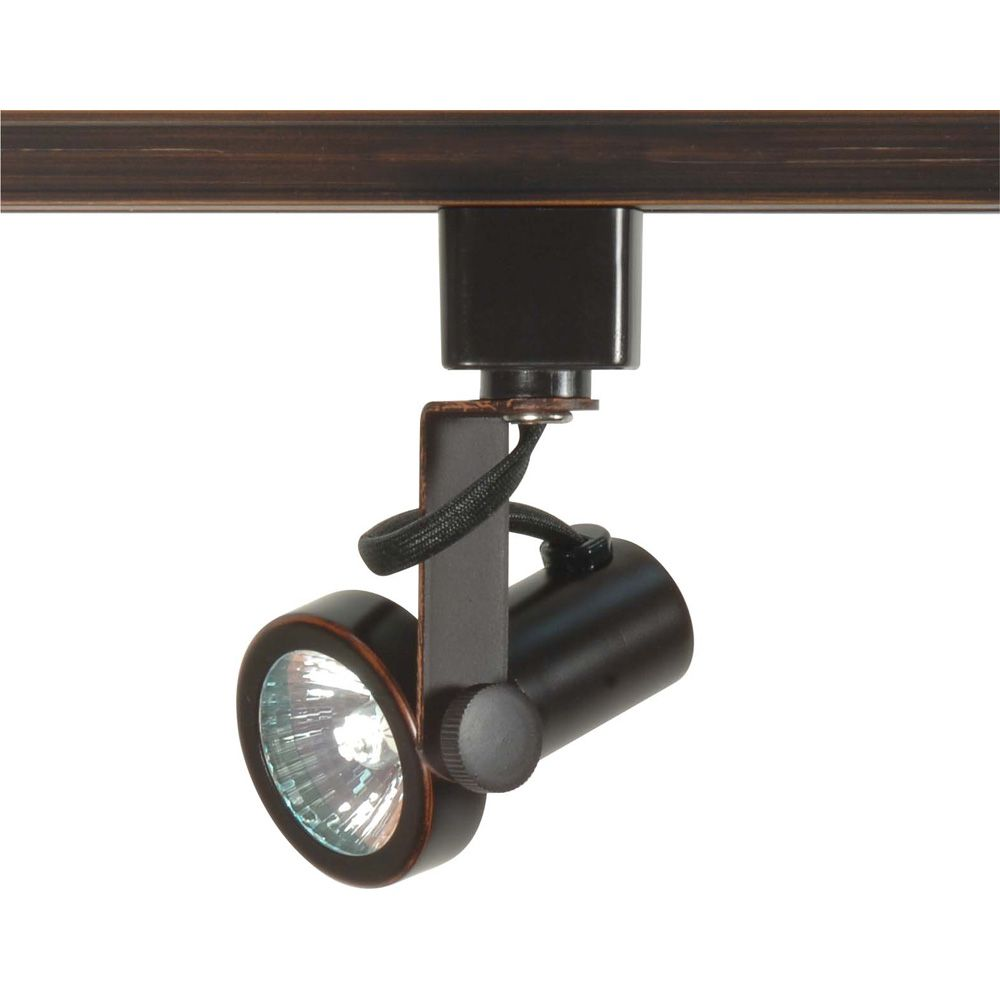 Glomar 1-Light  MR16 Gimbal Ring Track Head Finished in Russet Bronze