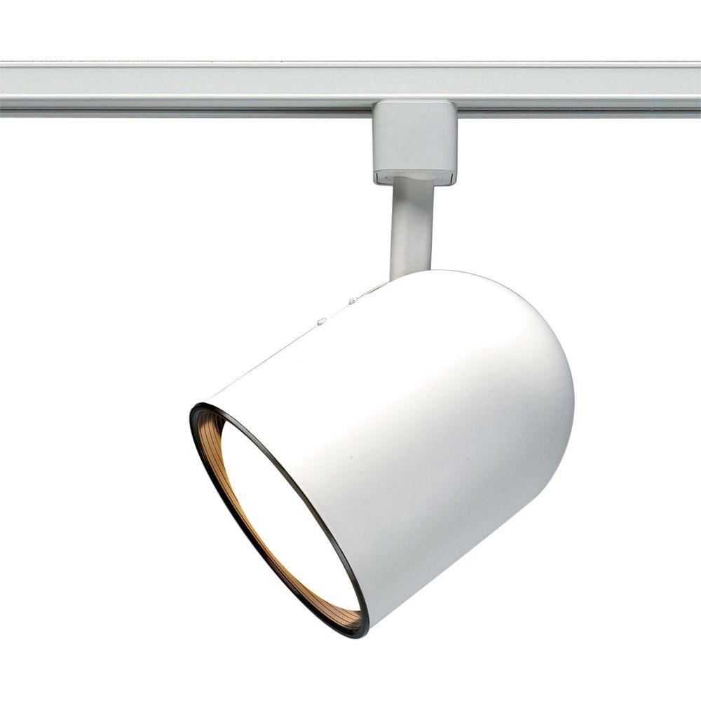 Appareil d'éclairage Glomar à une ampoule avec , Fini blanc