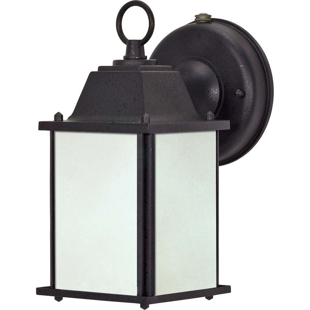 Glomar Black Cube Lantern Textured Light with Frosted Glass  (Bulb included)