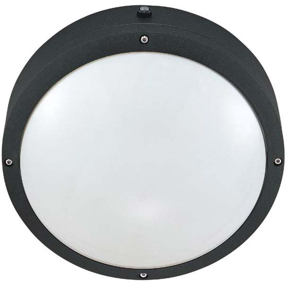 Hudson Matte Black 2-Light 13 with 10 Inch Round Wall / Ceiling Fixture